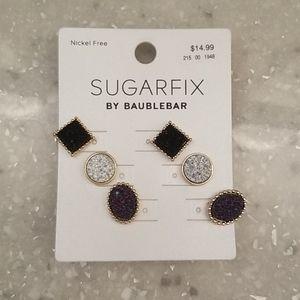 3 pairs druzy BaubleBar earrings! NWT!